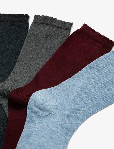 Koton Çorap Seti Bordo